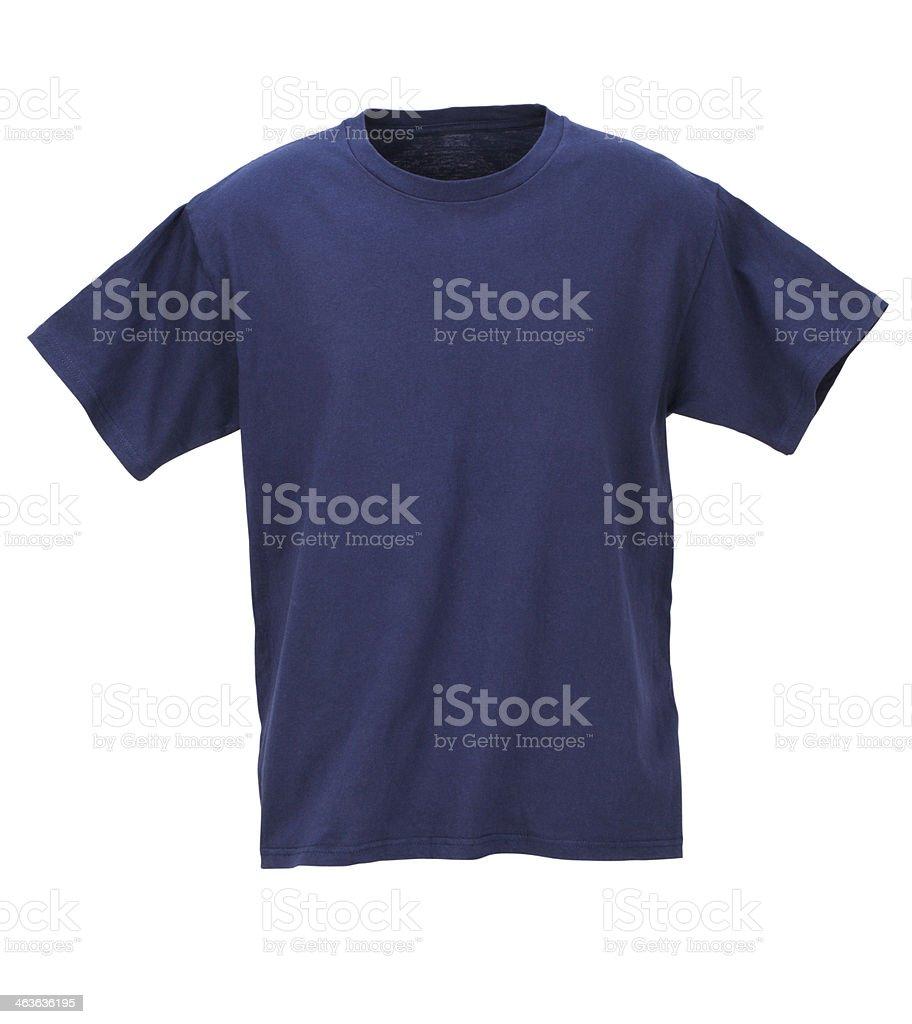 Navy T-Shirt /clipping path royalty-free stock photo