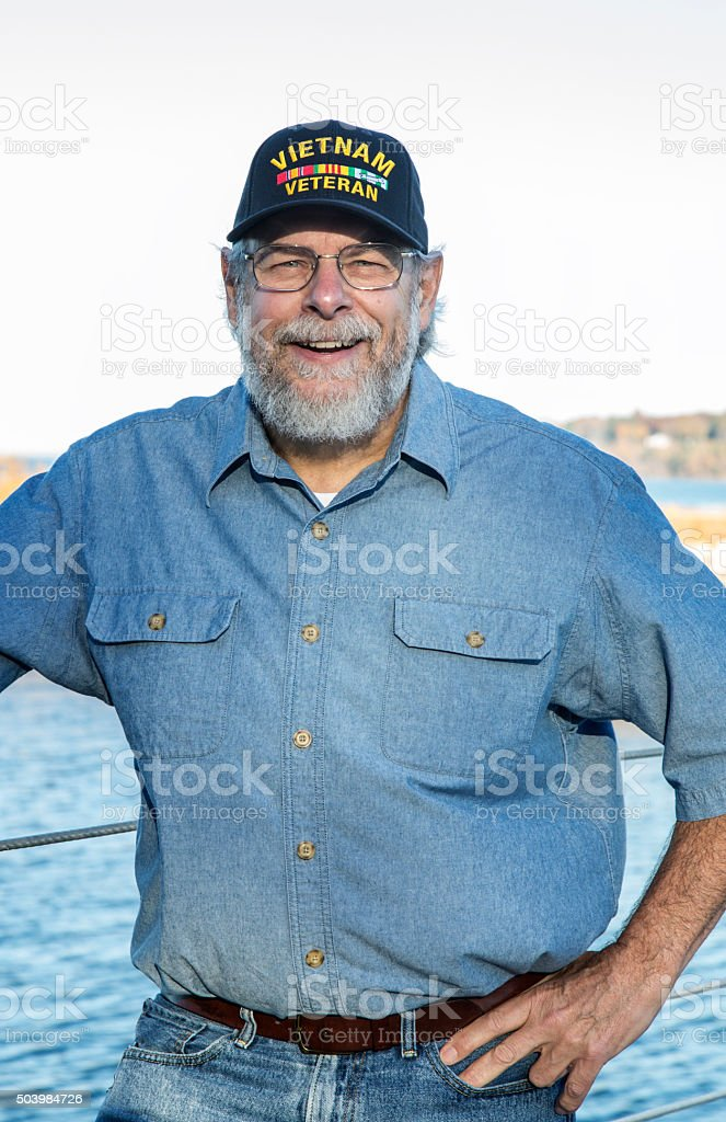 USA US Navy Vietnam War Military Veteran stock photo