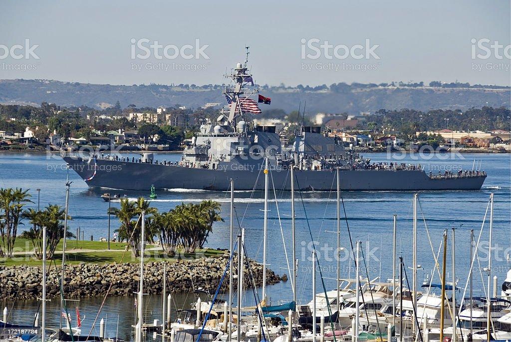 US Navy War Ship royalty-free stock photo