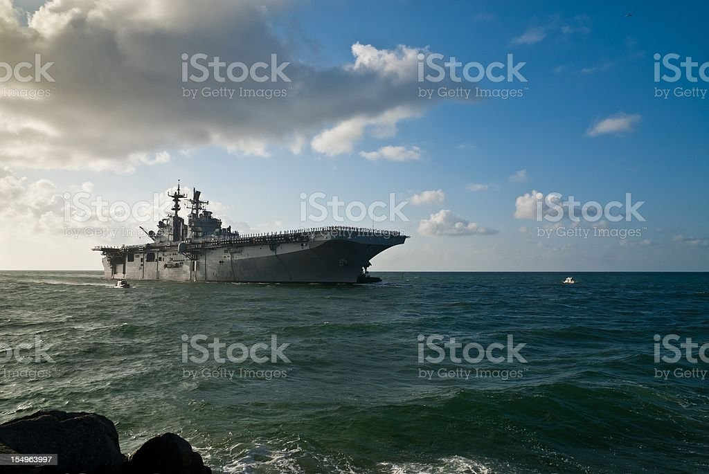 U.S. Navy Warship stock photo
