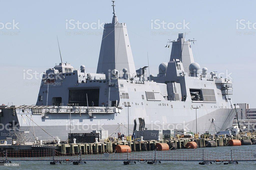 US Navy warship stock photo