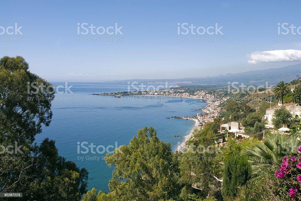 Naxos bay - Sicily royalty-free stock photo