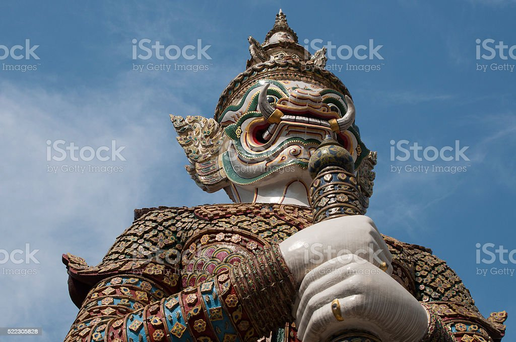 Nayak Palace statue in Thailand. stock photo