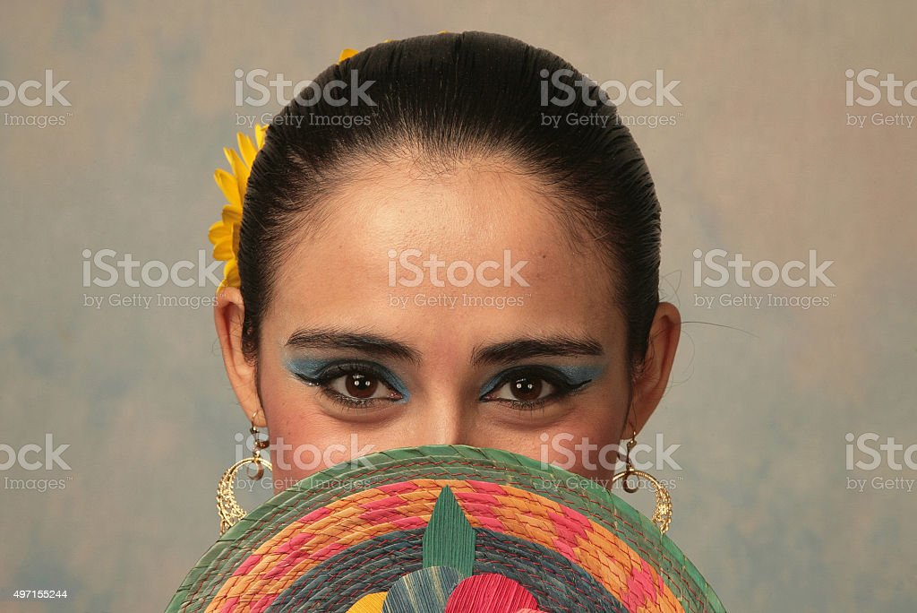 Nayarit folk dancer stock photo