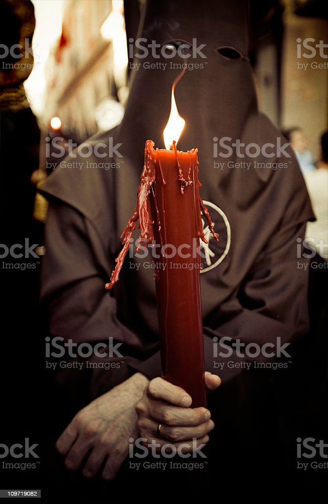 nazareno during semana santa stock photo