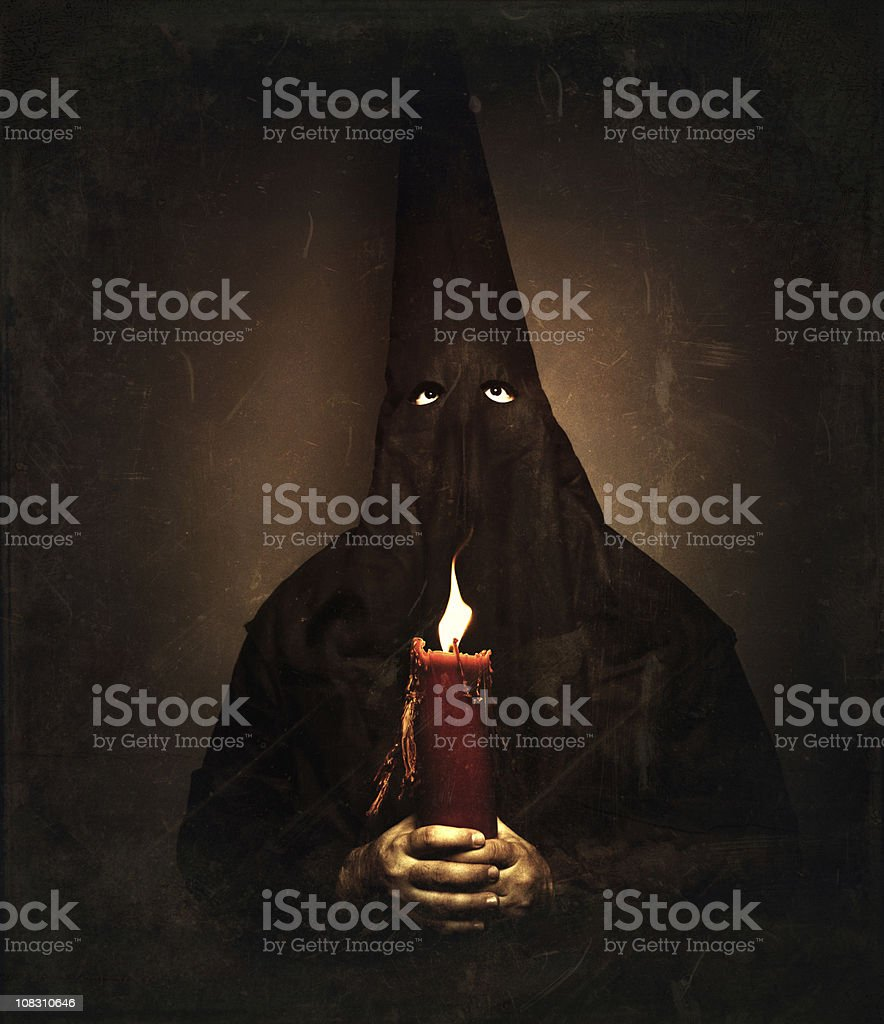 nazareno holding a candle royalty-free stock photo
