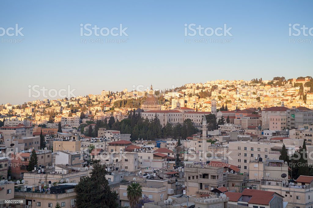 Nazareth cityscape. stock photo