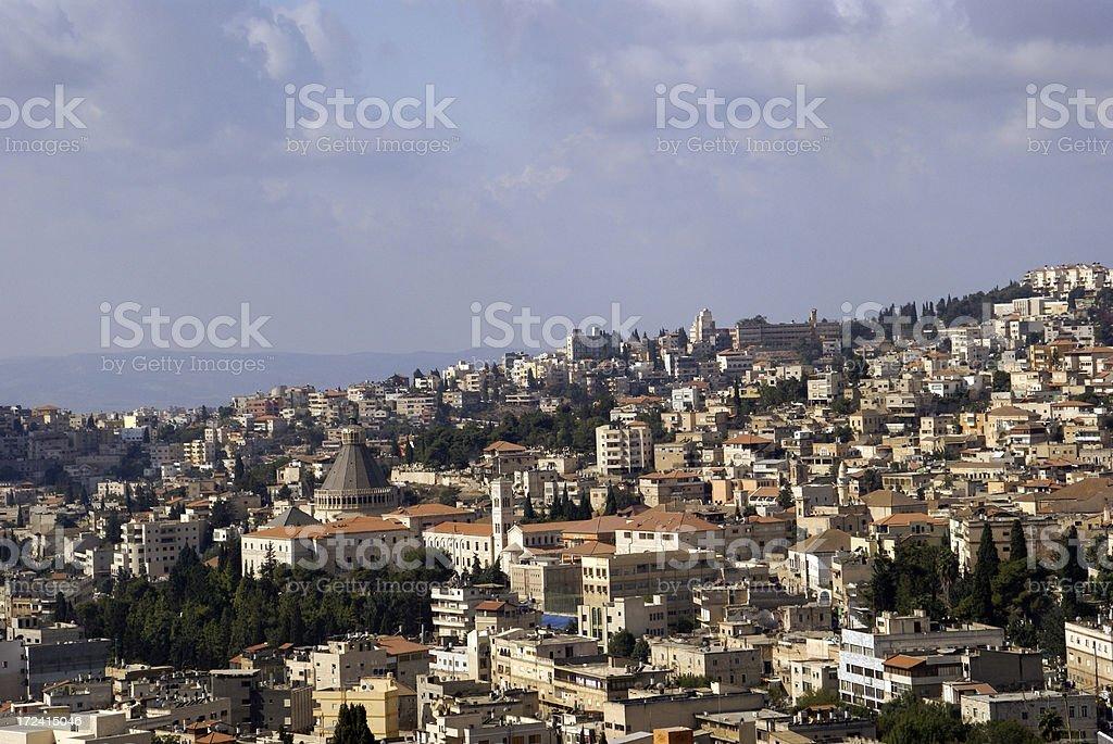 Nazareth Israel Panorama stock photo