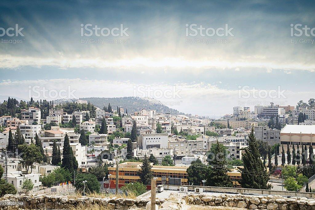 Nazareth Sunrise Cityscape stock photo
