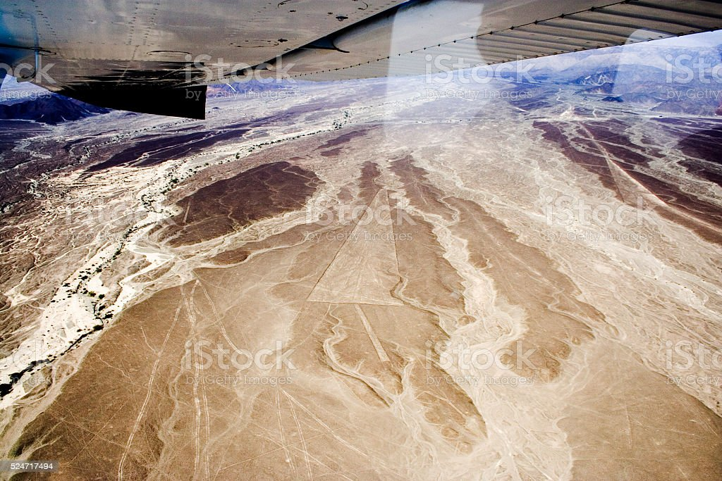 Nazca Lines, Aerial View, Peru stock photo