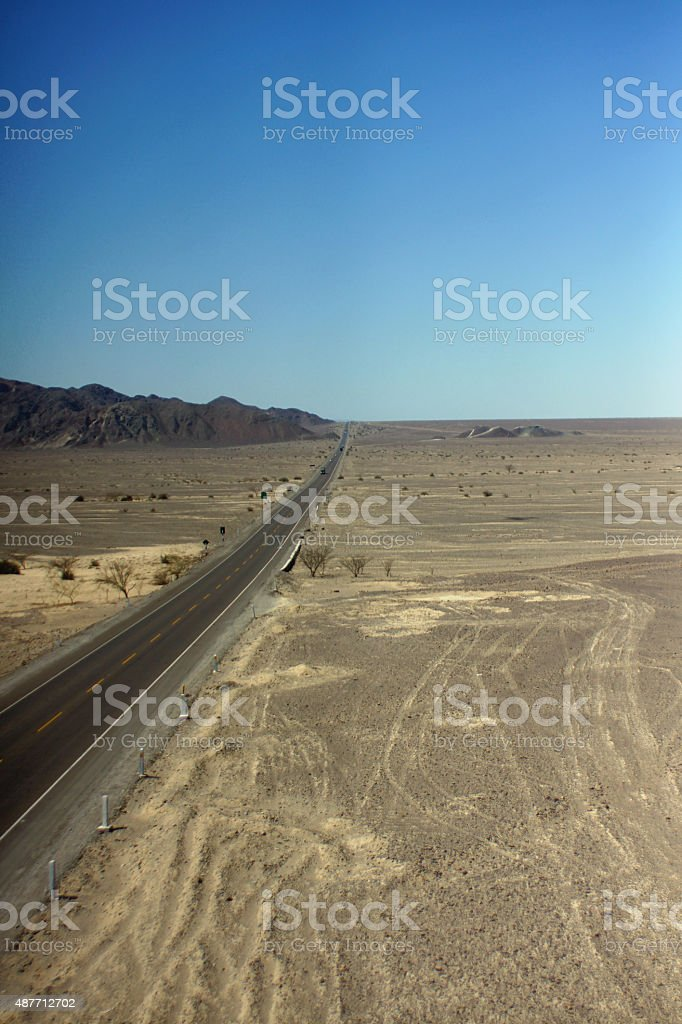 Nazca lines Pan American Highway stock photo