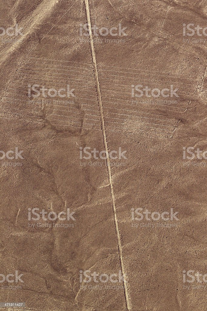 Nazca Lines - Parallels royalty-free stock photo