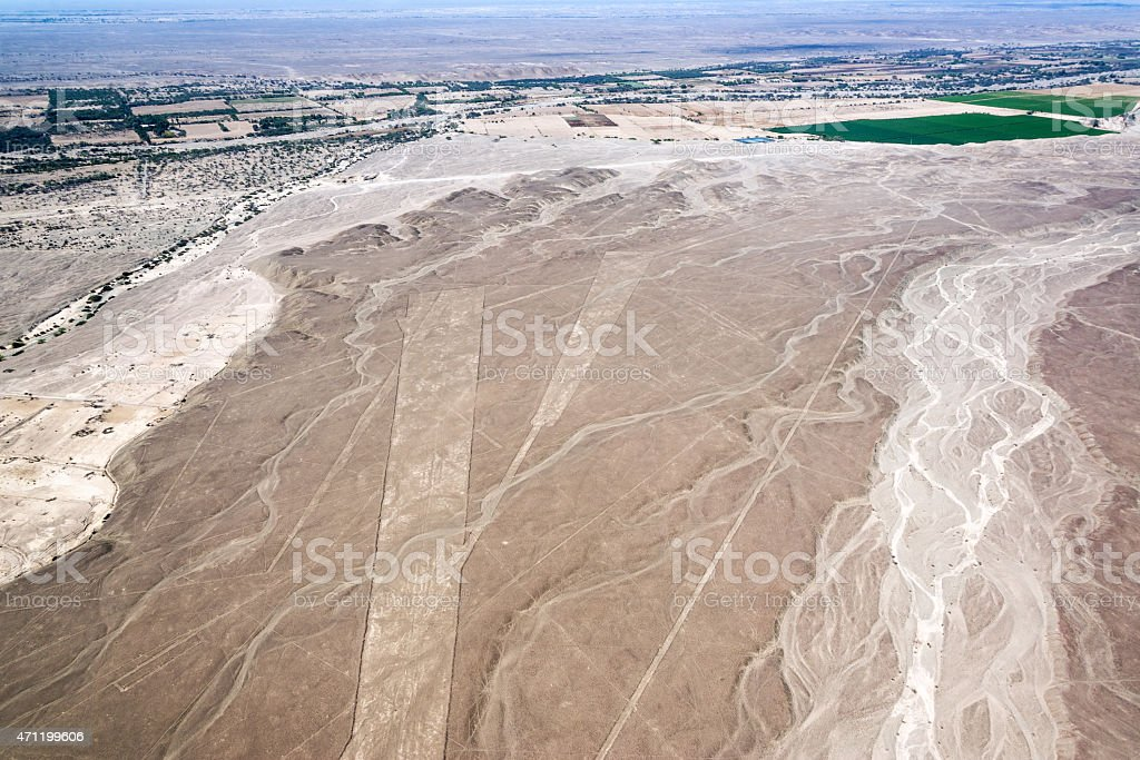 Nazca Lines Trapezium stock photo