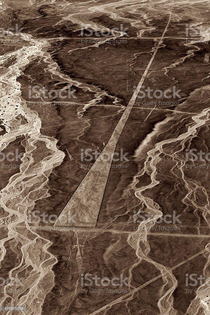 Nazca Lines - Trapezoid stock photo