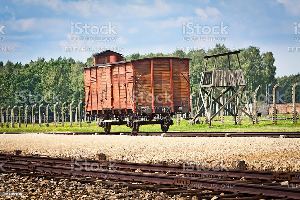 Nazi concentration camp the Birkenau stock photo