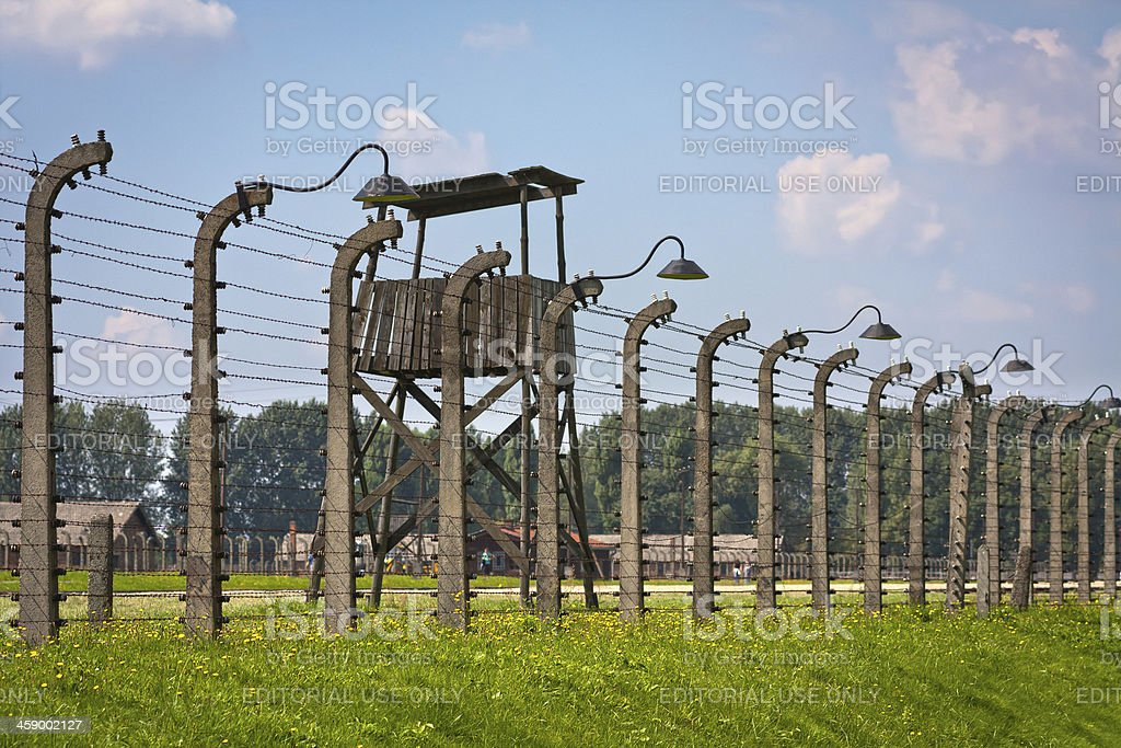 Nazi concentration camp the Birkenau, Poland stock photo