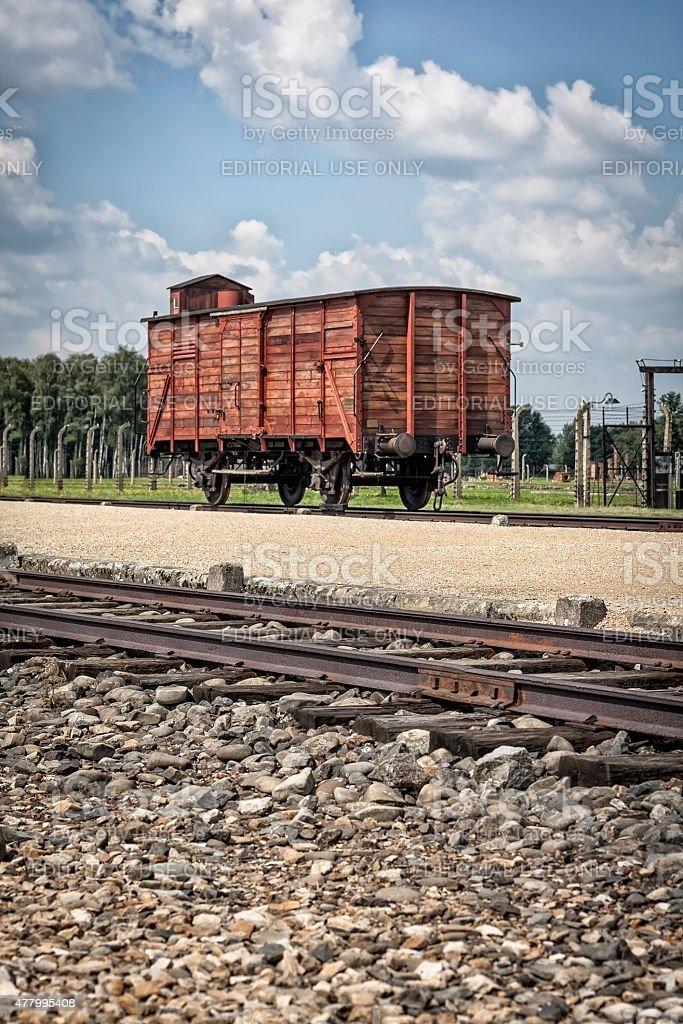 Nazi concentration camp the Birkenau, Poland stock photo