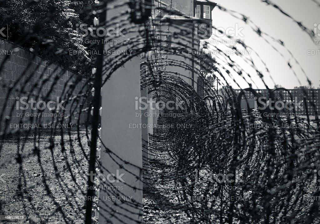 Nazi fence stock photo