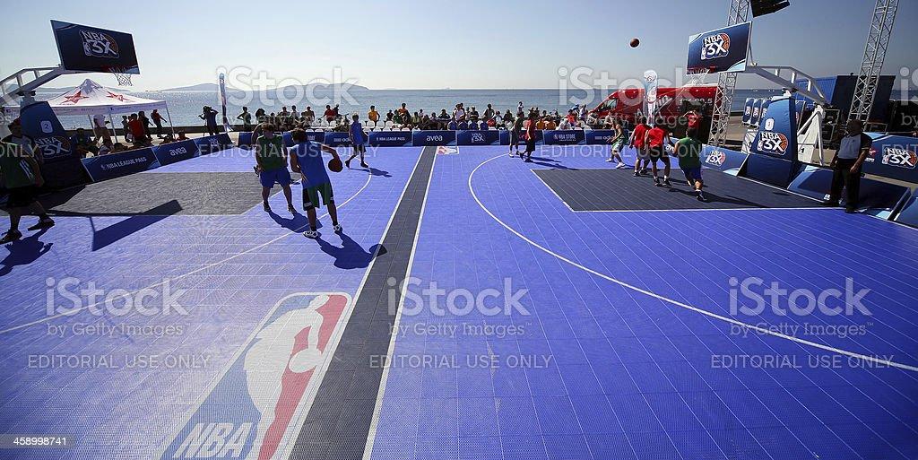 nba streetball action stock photo
