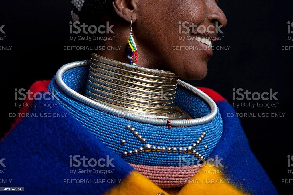 Ndebele Smile stock photo