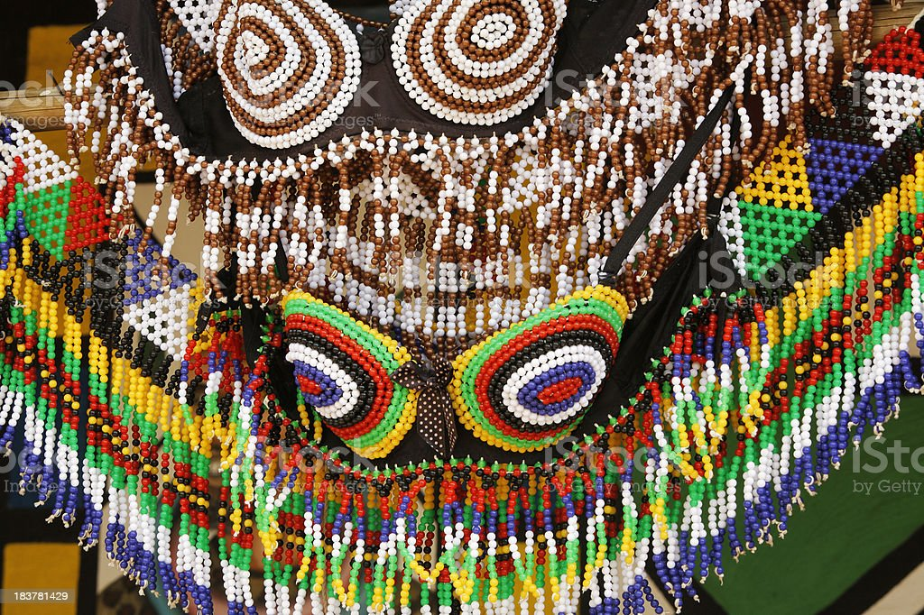 Ndebele Tribal beadwork South Africa stock photo