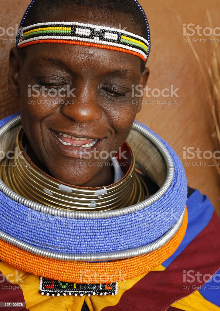 Ndebele woman close stock photo