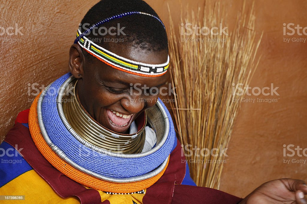 Ndebele woman of South Africa stock photo