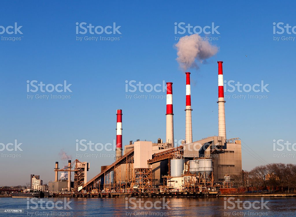 ?ndustrial Factory Plant in the New York City stock photo