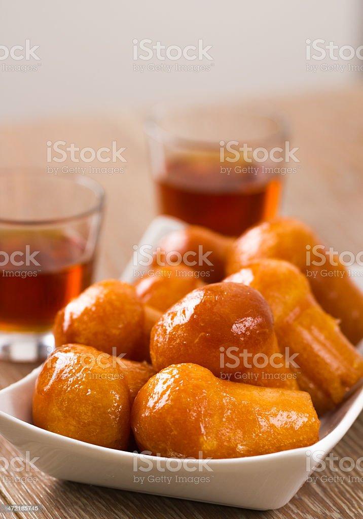 Neapolitan Baba Au Rum stock photo