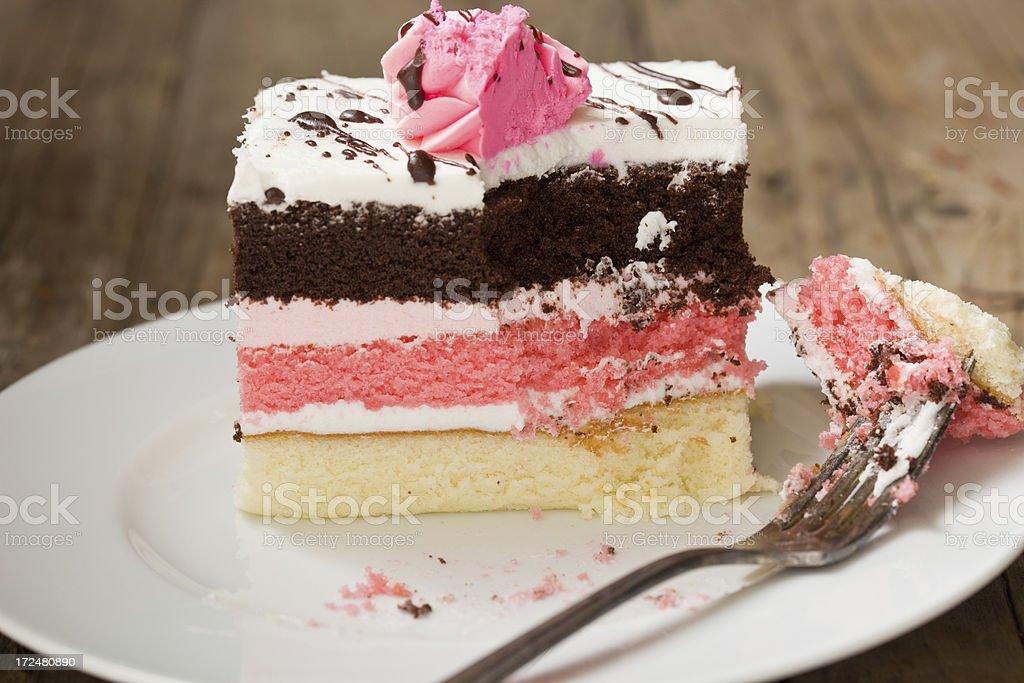 Neapolitan Cake stock photo