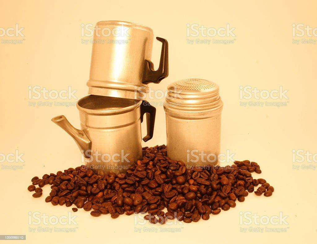 Neapolitan coffee maker #5 stock photo