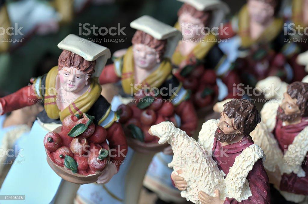 neapolitan crib figures stock photo