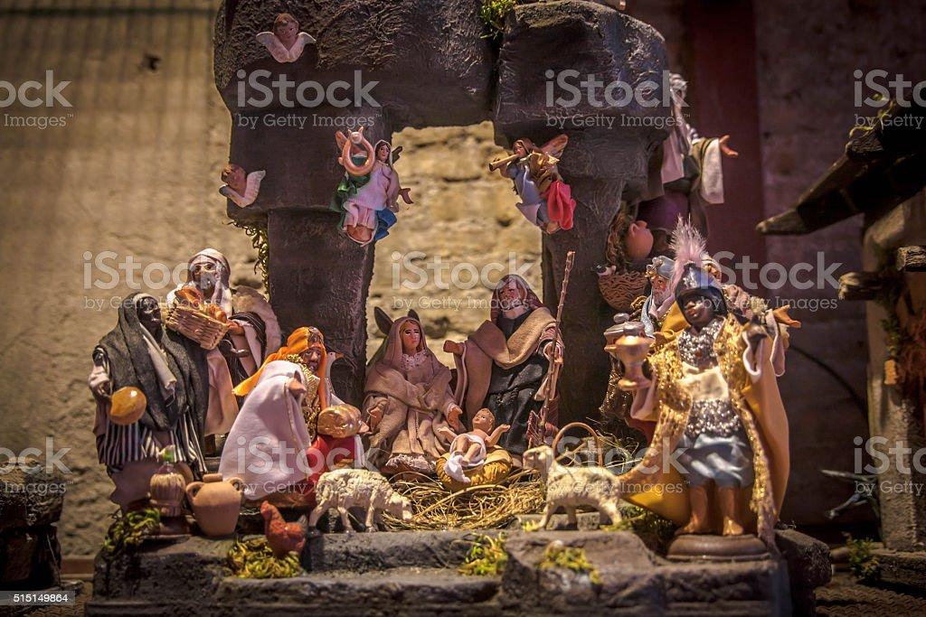Neapolitan Crib stock photo