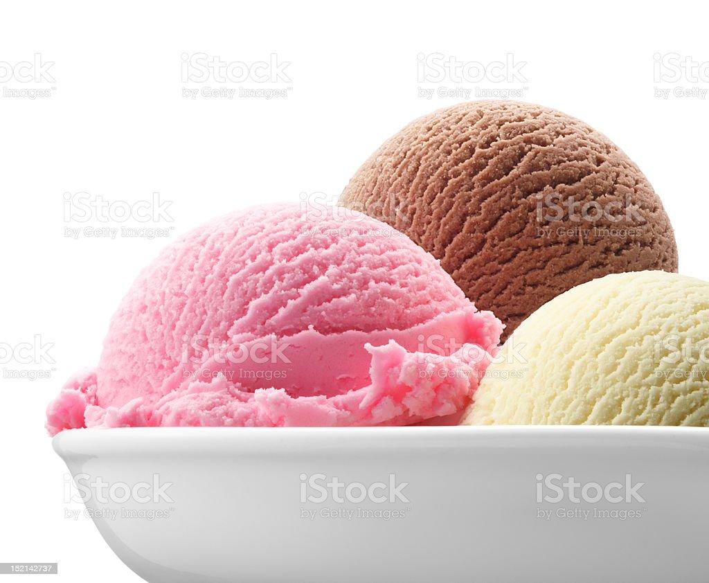 neapolitan ice cream stock photo