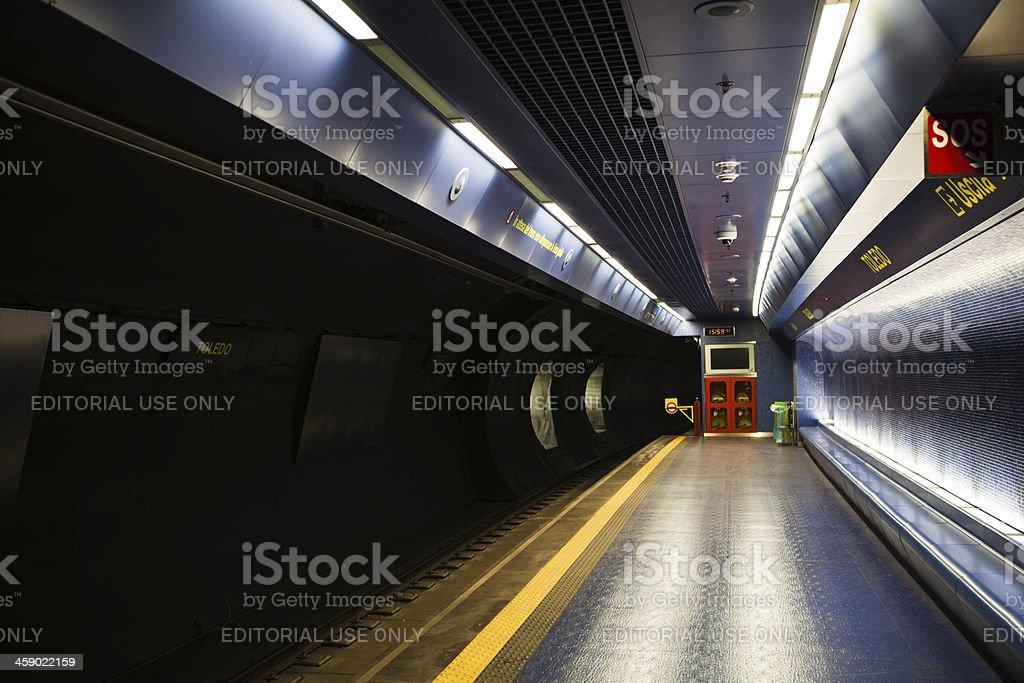 Neapolitan Metro Station of Toledo royalty-free stock photo