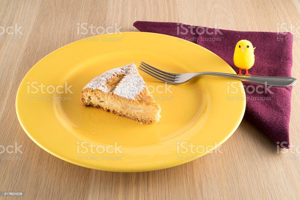 Neapolitan Pastiera (Easter cake) stock photo