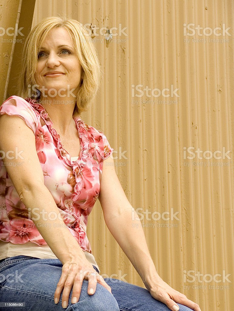 neapolitan woman - middle aged royalty-free stock photo