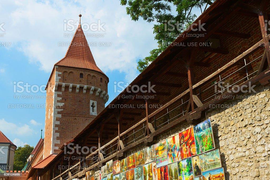 Near city gates in Krakow stock photo