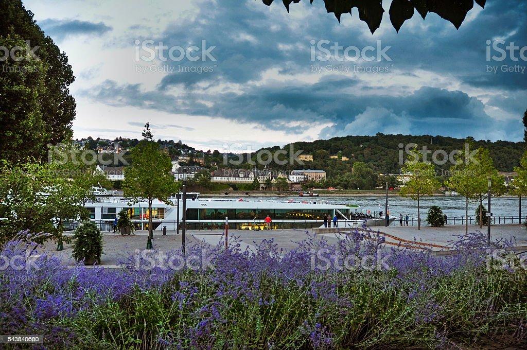 Near Festung Ehrenbreitstein in Koblenz- Germania stock photo