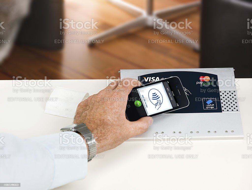 NFC - Near field communication / contactless payment stock photo