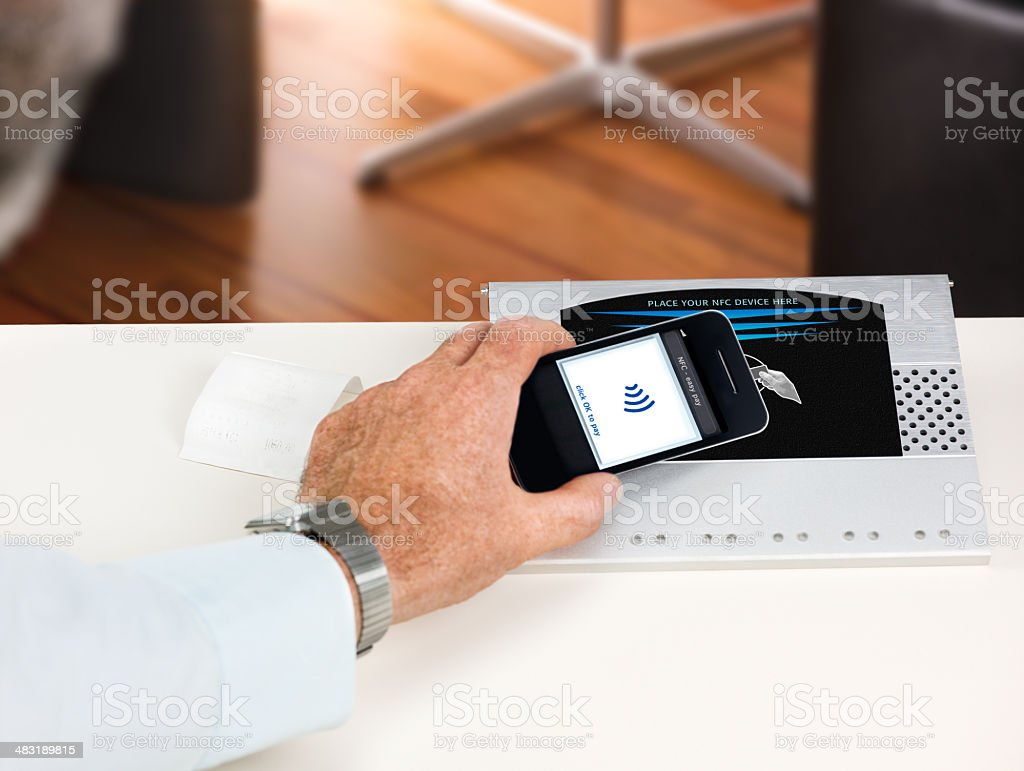 NFC - Near field communication / contactless payment royalty-free stock photo