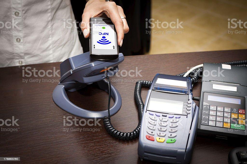 NFC - Near field communication stock photo