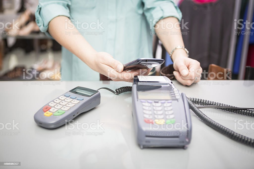 NFC - Near field communication stock photo