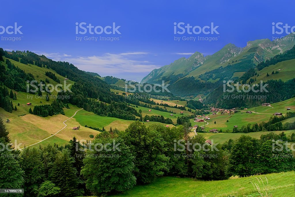 Near Gruyeres,  Canton of Fribourg, Switzerland royalty-free stock photo