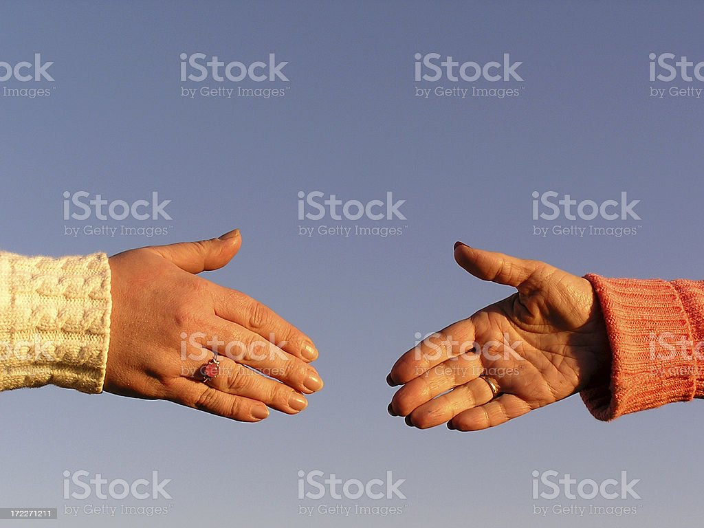 Near Handshake Women stock photo