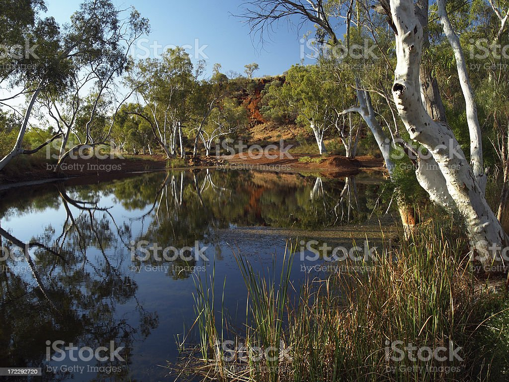Near Karijini National Park in Western Australia royalty-free stock photo