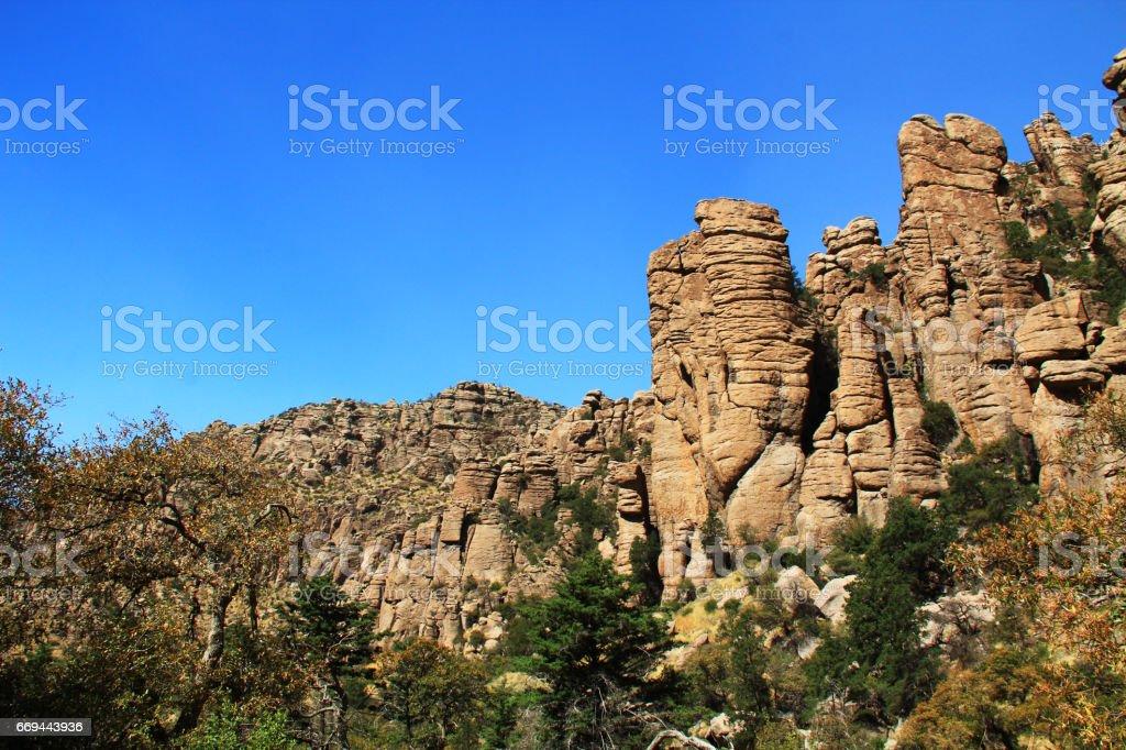 Near Organ Pipe Formation in Chiricahua National Monument, Arizona stock photo