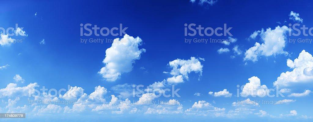 Near Sunset - 46 Mpix Blue Sky, Cloudscape Panorama royalty-free stock photo
