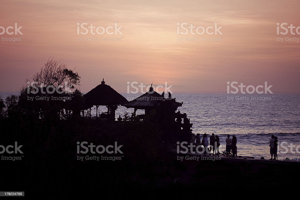 near Tanah Lot Temple on Sea in Bali Island royalty-free stock photo