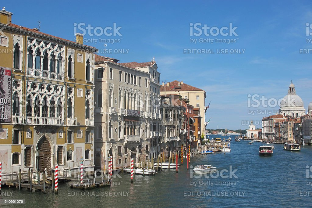 Near the entrance to the Grand Canal stock photo